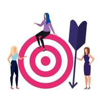Isolated target and people vector design