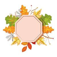 frame with autumn leafs decoration