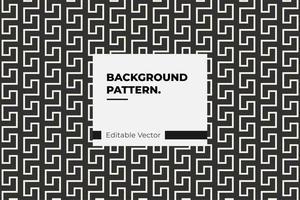 Interlocking White Lines Pattern