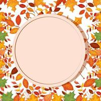 circular frame with autumn leafs