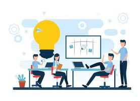 Teamwork and businesspeople vector design
