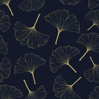 Ginkgo leaves pattern. vector