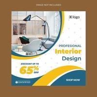 Square Banner Templates For Interior Design vector