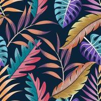 patrón transparente tropical. vector