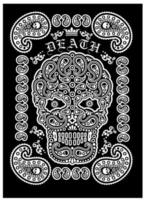 Skull with paisley design vector