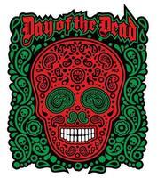 Day of the dead skull vector