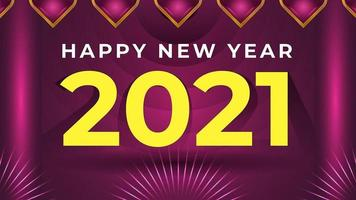 New year 2021 colorful abstract background design template vector