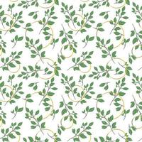 Seamless pattern with leaves concept in the white backdrop vector