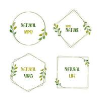 Set of nature frames in the basic shapes vector