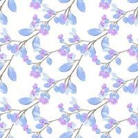 Repeat seamless pattern with watercolor style and nature concept