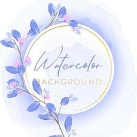 Watercolor banner with nature conce vector
