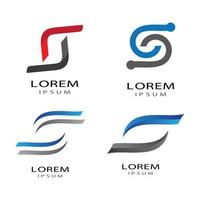 Letter s logo images vector