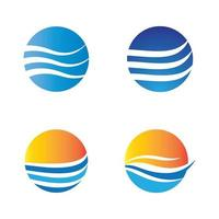Water wave logo images