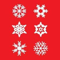 Snowflake set of 6