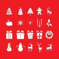 Christmas set of 20 icons