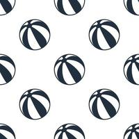 Seamless beach ball pattern background,Vector and Illustration. vector