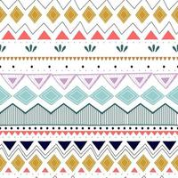Seamless striped pattern. Ethnic and tribal motifs. Vintage print, grunge texture. Aztec, african, asian, indian, and maya style. Bohemian geometric stripes hand drawn vector illustration.
