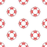 Seamless life ring pattern background,Vector and Illustration.
