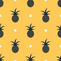 Seamless pineapple pattern background,Vector.