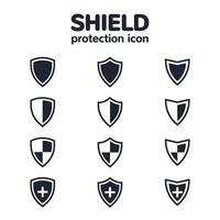 Shield icon set for UI design or application icons