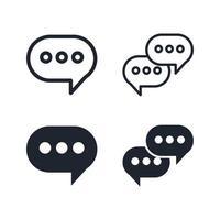 conjunto de iconos de globo de discurso vector
