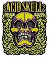 colored grunge skull vector