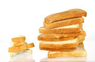 pilas de rebanadas de pan
