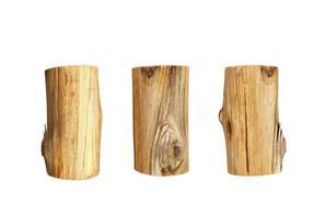 Three wood logs