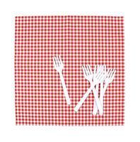 tenedores blancos sobre tela foto