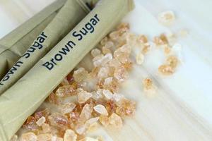 paquetes de azúcar morena