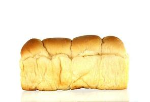 Loaf of bread on white photo