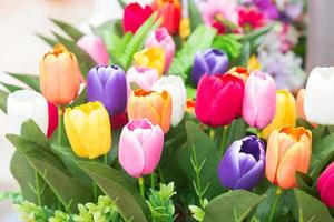 Colorful bouquet of tulips photo