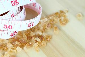 Brown sugar and a measuring tape