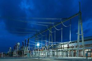 High voltage transmission station