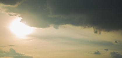 Sunset sky and sun