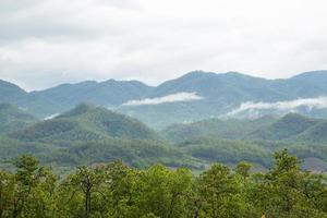 montañas y bosques en tailandia