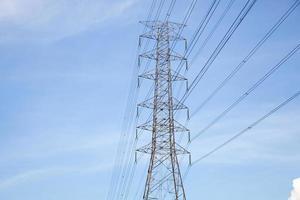 High voltage electricity pylon in Thailand
