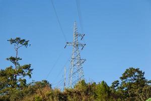Torre de electricidad de alta tensión en Tailandia