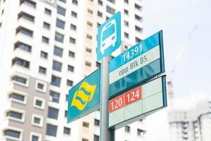parada de bus en singapur foto