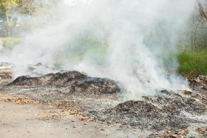 Burning waste pollution in Thailand photo