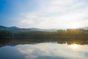 Reservoir in Thailand photo