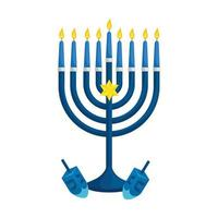 chandelier with dreidel games isolated icon