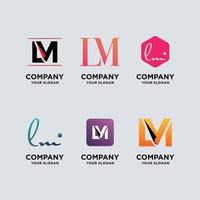 monogram logo design template set