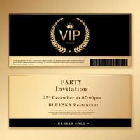 Invitation template set with gold and black design