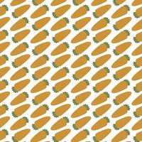 patrón sin costuras de zanahorias