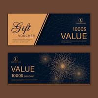 Luxury event invitation cards set