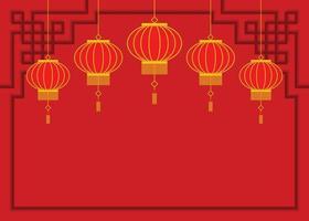 papel tapiz rojo de linternas chinas.