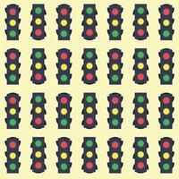 Traffic lights seamless pattern