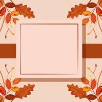 square frame with autumn leafs
