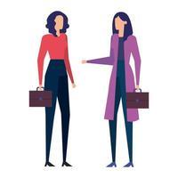 elegant businesswomen workers avatars characters